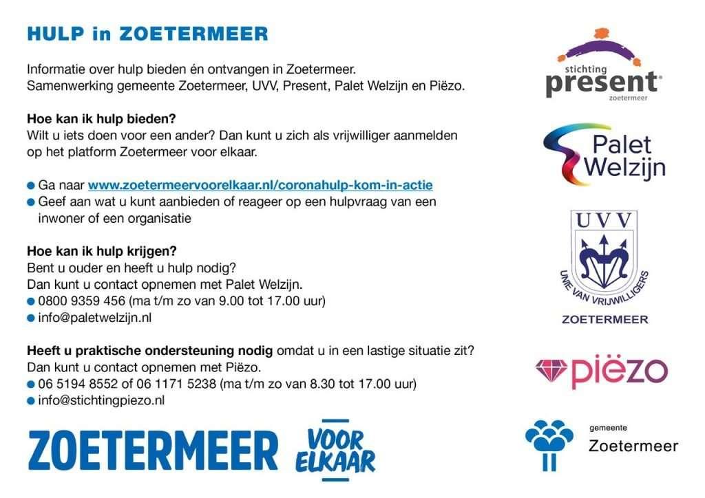 Flyer Hulp in Zoetermeer